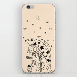 Love or Die Tryin' - Rhinestone Cowgirl Black & Cream iPhone Skin