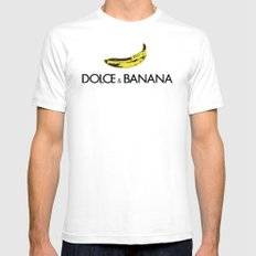 Dolce & Banana white BG SMALL White Mens Fitted Tee