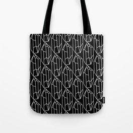 Black Crystal Pattern Tote Bag