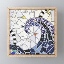 Blue Fandango Mosaic Framed Mini Art Print