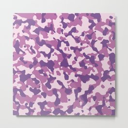 Camouflage Trending Colors Purple Metal Print