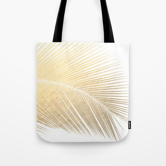 Palm leaf - gold Tote Bag
