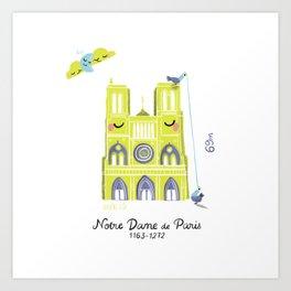 Notre Dame de Paris Art Print