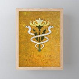 Gridania Flag - The Order of the twin adder ( FFXIV) Framed Mini Art Print