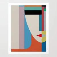 Art Prints featuring Absolute Face by THE USUAL DESIGNERS