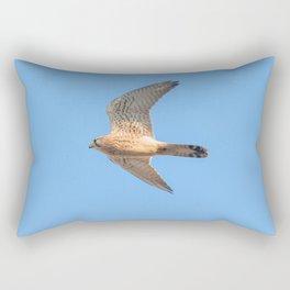 Common Kestrel (Falco tinnunculus). Common Kestrel in flight Rectangular Pillow