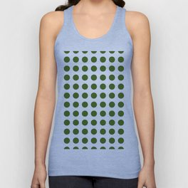 Simply Polka Dots in Jungle Green Unisex Tank Top