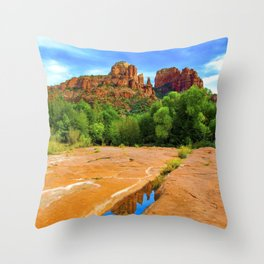 Lovely Day at Red Rock State Parke Throw Pillow