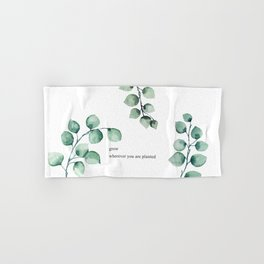 Grow wherever you are planted watercolor florals Hand & Bath Towel