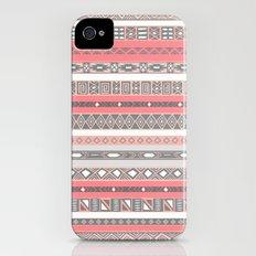 Aztec Print Peach Rose Salmon Grey iPhone (4, 4s) Slim Case