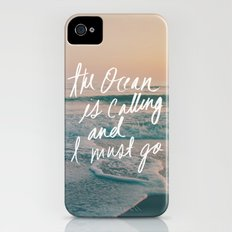 The Ocean is Calling by Laura Ruth and Leah Flores  iPhone (4, 4s) Slim Case