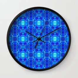 Pattern 50 - Blue plastic recycling bottles Wall Clock