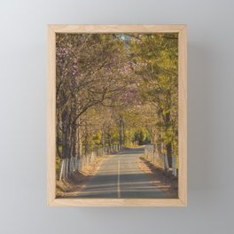 On The Road Framed Mini Art Print