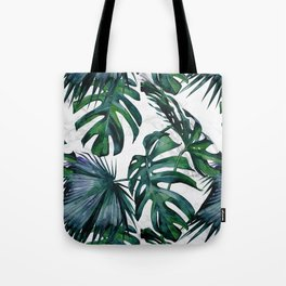 Tropical Palm Leaves Classic on Marble Tote Bag