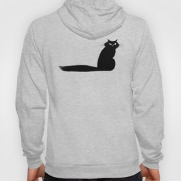 Long Tail Black Cat Hoody