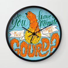 A Minute for the Gourd Wall Clock