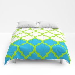 Moroccan Green and Blue Comforters