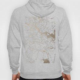 Amsterdam White on Gold Street Map II Hoody