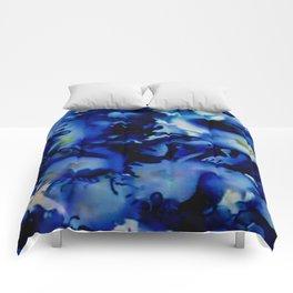 A Splash of Blue Comforters