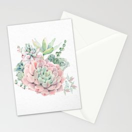 Pink Succulent by Nature Magick Stationery Cards