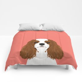 Bode - King Charles Spaniel customizable pet art for dog lovers  Comforters