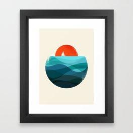 Deep blue ocean Framed Art Print