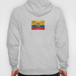 Vintage Aged and Scratched Ecuadorian Flag Hoody