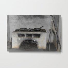 Old Florida Spanish stove Metal Print