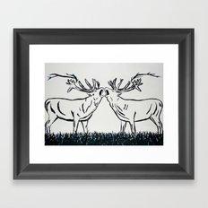 Two Caribou  Framed Art Print