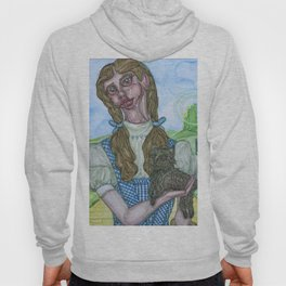 Dorothy and Toto painting, Coombes Hoody