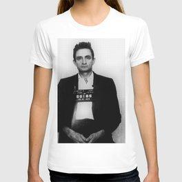 Johnny Cash Mug Shot Vertical T-shirt