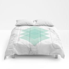 Marble Scandinavian Design Geometric Squares Comforters
