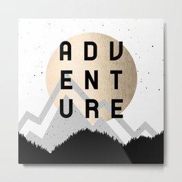 Adventure Golden Sunrise Metal Print