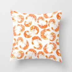 Shrimp Throw Pillow