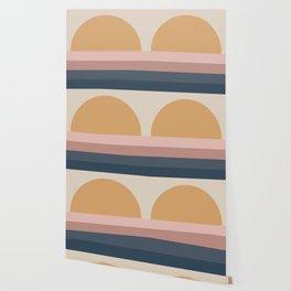 Neutral Retro Sunset Wallpaper