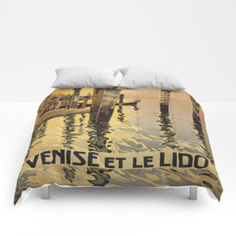 Vintage poster - Venice, Italy Comforters