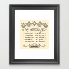 Rock Paper Scissors Lizard Spock Framed Art Print