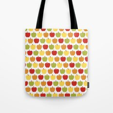 Apples Over White Tote Bag