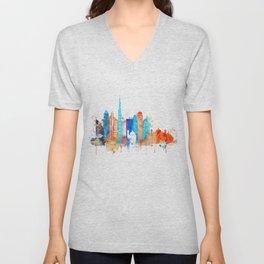 Dubai watercolor Unisex V-Neck