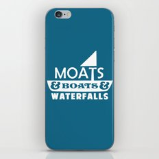 Moats and Boats and Waterfalls Graphic in Blue iPhone & iPod Skin