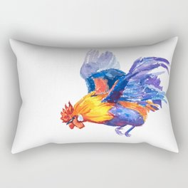 Watercolor of flying bantam Rectangular Pillow