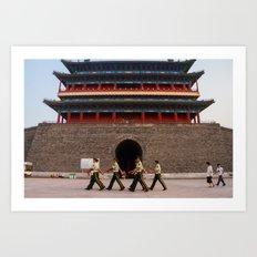 Guards at Zhengyang Gate Art Print