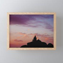 Man Enjoying Sunset II Framed Mini Art Print