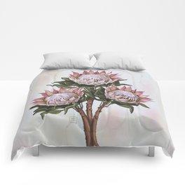 Protea flowers. Tropical big flowers Comforters