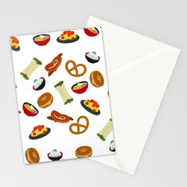all the food Stationery Cards