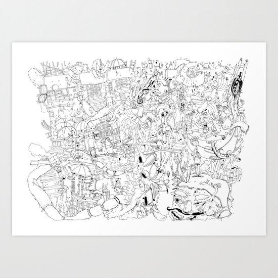 Fragments of memory Art Print