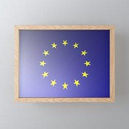 European Union flag Framed Mini Art Print