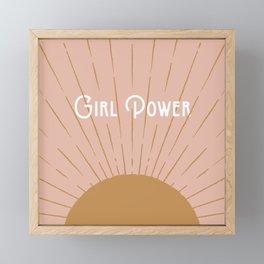 Girl Power - Pink Framed Mini Art Print