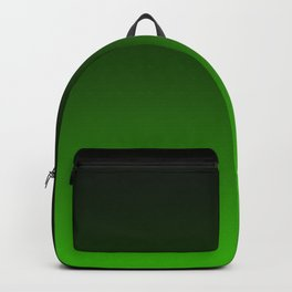 Black and Grass Green Gradient 055 Backpack