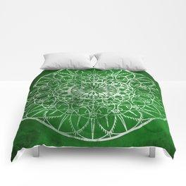 Fire Blossom - Emerald Comforters